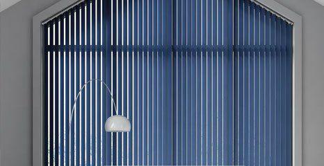 blue coloured blinds