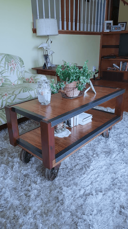Repurposed Wood Coffee Table Made From 200 Year Old Solid Wood Procured  From A