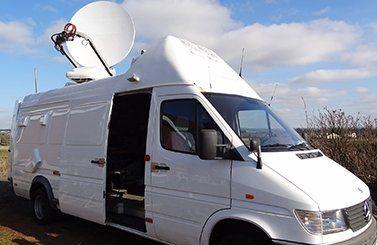 Uplink and DSNG vans