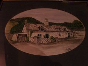 Painting of The Red Lion Pub in Llanafan
