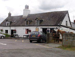 Front view of The Red Lion Pub in Llanafan