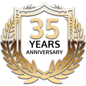 35 year anniversary badge