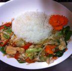 Stir fried mix vegetable chicken