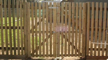 Timber gate and fencing