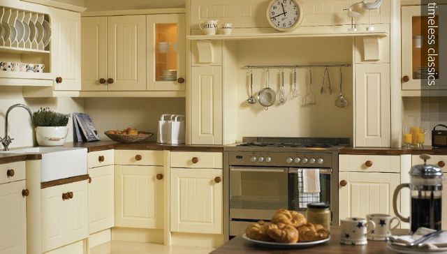 A classic style kitchen in vanilla