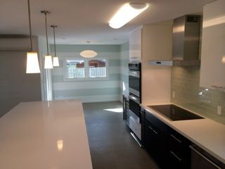 Finished kitchen by our building contractors on the island of Oahu