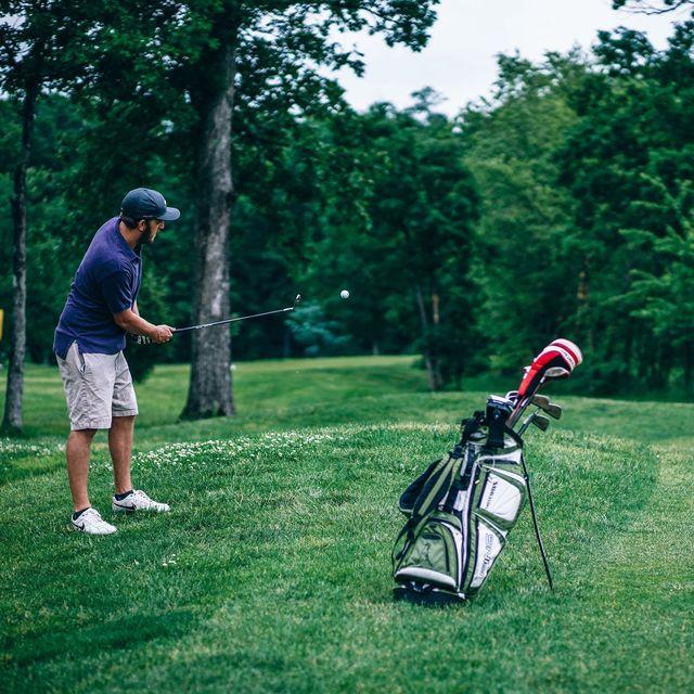 Photo of a man golfing