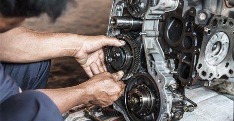 engine being serviced