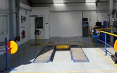 area for MOT testing