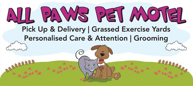 all paws pet motel logo
