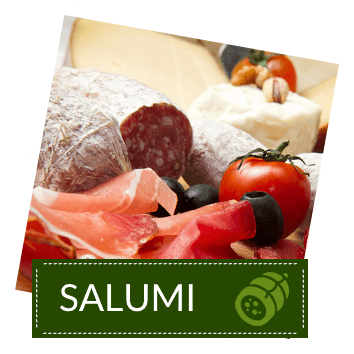 salumi, pomodori e olive
