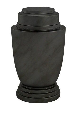 Urna di marmo nero