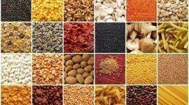 collage di immagini di legumi, semi, frutta secca