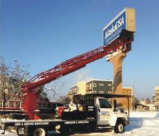 Universal Sign & Lighting service truck