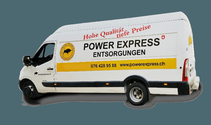 Raeumungen, Power Express Entsorgungen in Zuerich und Umgebung   Das schoene Auto fuer Entsorgungen