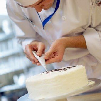 Chef Decorating a Cake - Cake and Candy Supplies in Newark, DE