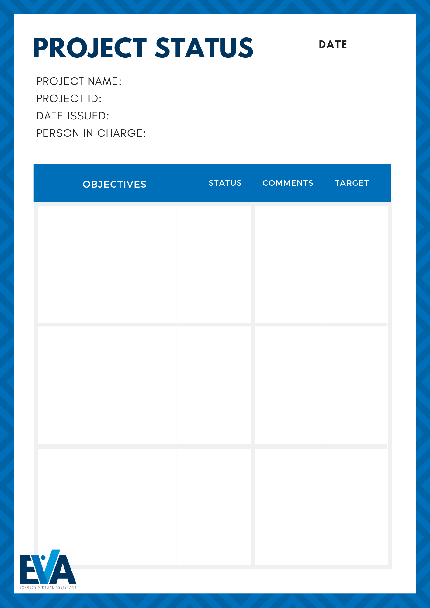project status form