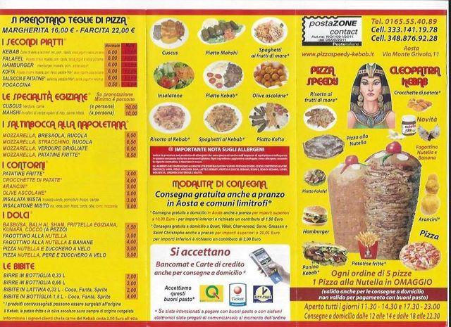 Volantino Pizza Speedy Cleopatra