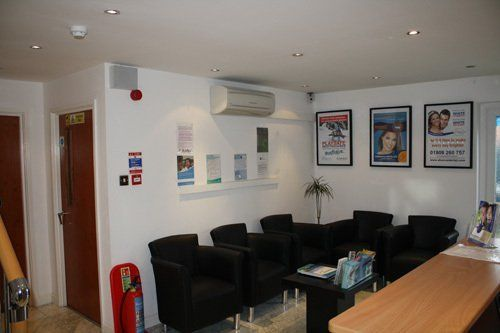 Reception area at the dental practice in Milton Keynes, MK