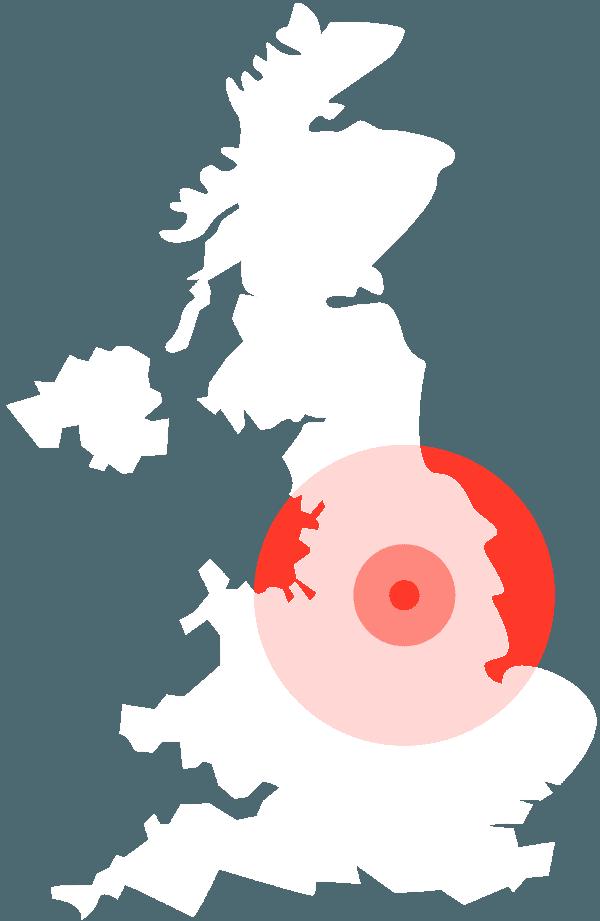 UK map white