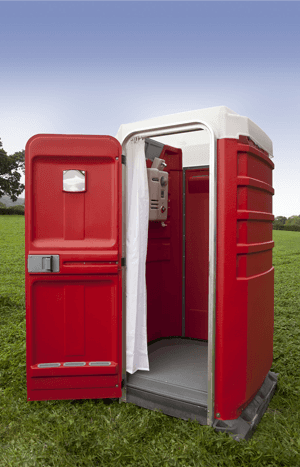 Single mobile shower unit
