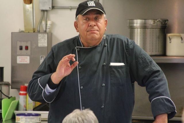 Chef Steve Geving at the Blanchard Community Center