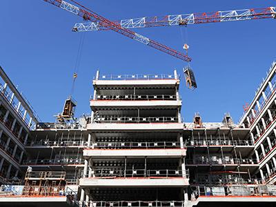 vista di un edificio in costruzione