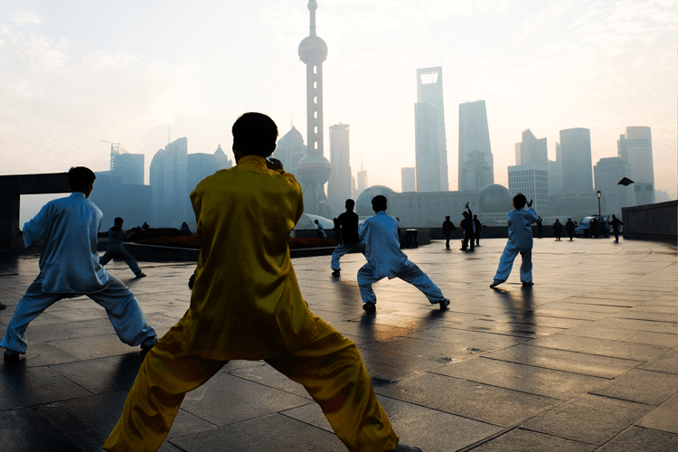 Martial Arts — People Playing Taiji On The Bund in Colonia, NJ
