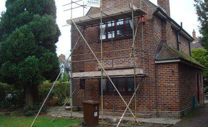 chimney scaffolding