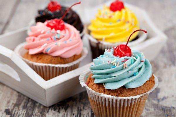 cup cake colorate e preparate a mano