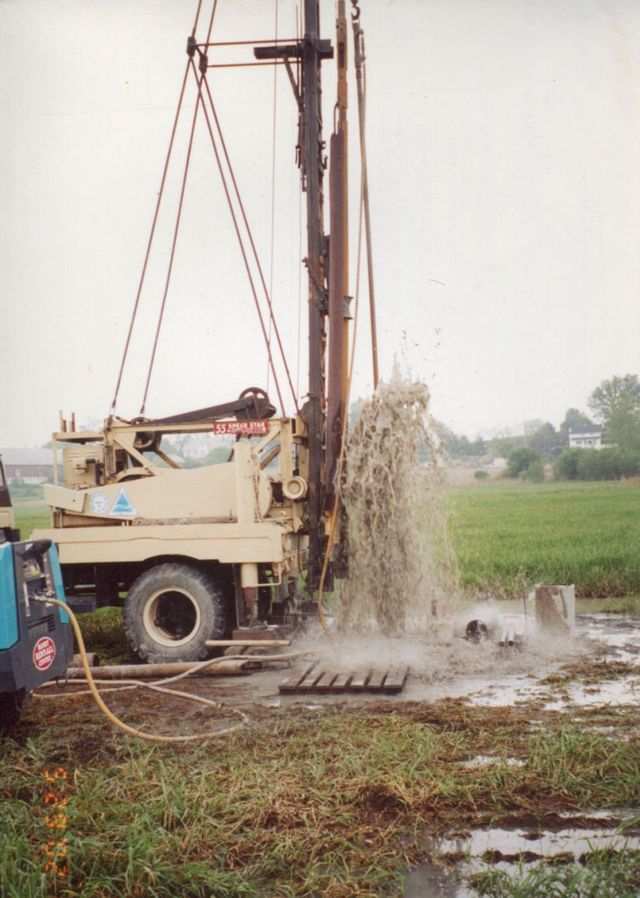Water well drilling machine in Monroe, NY