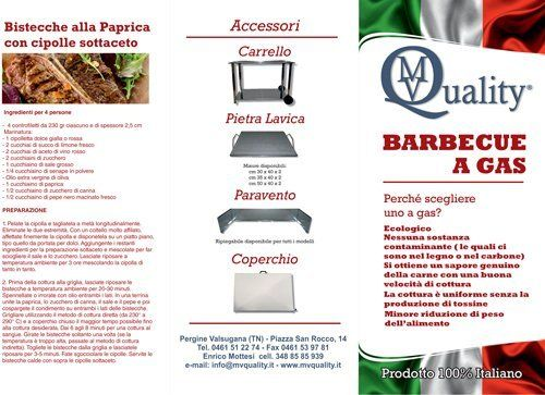 Brochure sul barbecue a gas