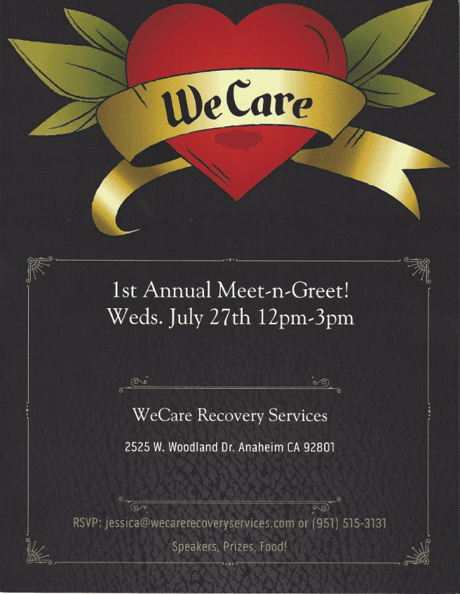 WeCare Recovery - 1st Annual Meet & Greet!