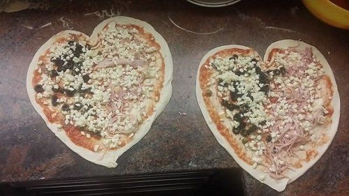pizze a forma di cuore