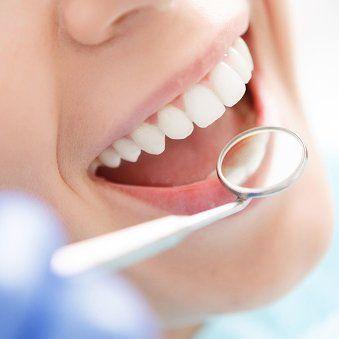 teeth getting examined