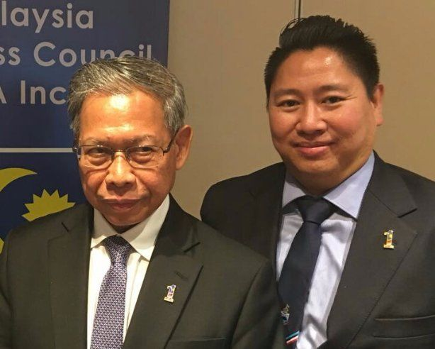 Alex Kitingan and Trade Minister of Malaysia
