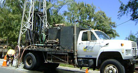Valley Well drilling truck
