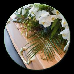 bara con fiori bianchi