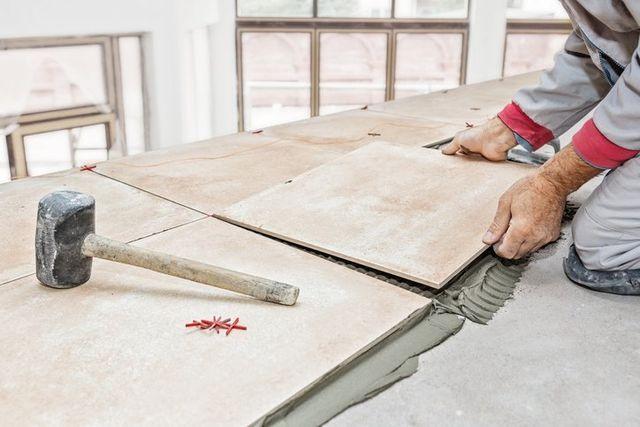 Tile floor repair