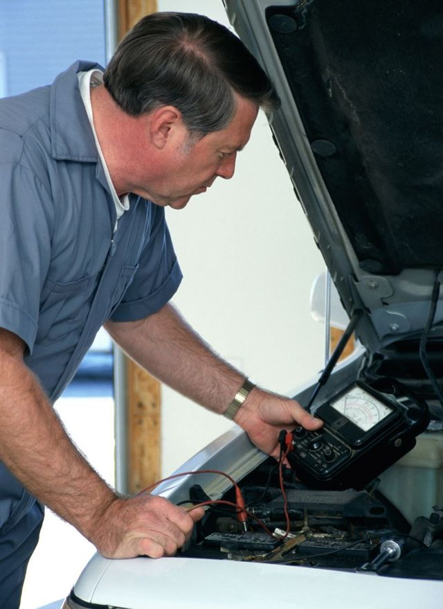 Mechanic working in our battery shop in Southland