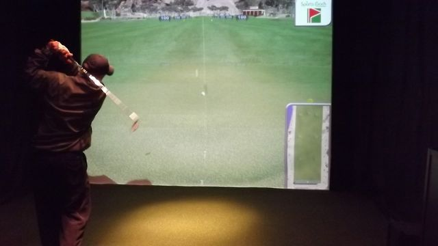 Indoor Golf Simulator at Burden Lake Country Club
