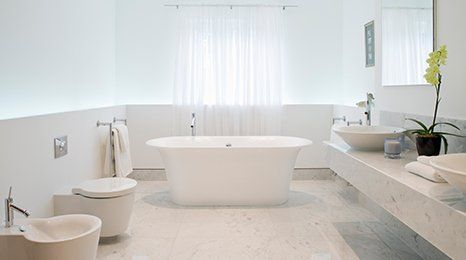 white coloured bathroom