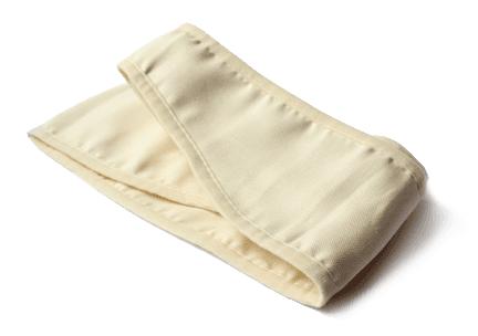 una fascia di color beige chiaro