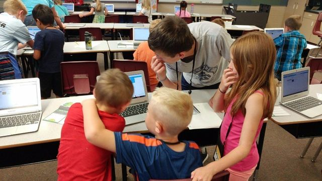 Students learn to code