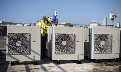 Commercial and industrial air conditioner installation