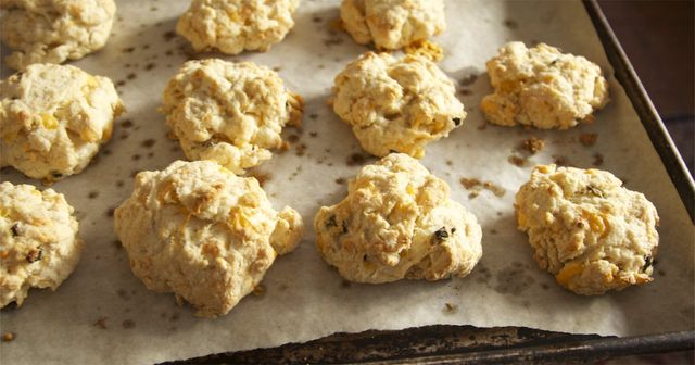Recipe for Little Bird Kitchen's Spicy Jalapeno Cheddar Biscuits