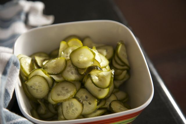 Recipe for Little Bird Kitchen's Spicy Refrigerator Pickles, Fire Syrup