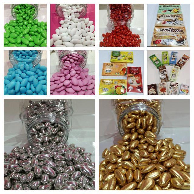 diversi tipi di confetti presso Candy Shop a Mortara