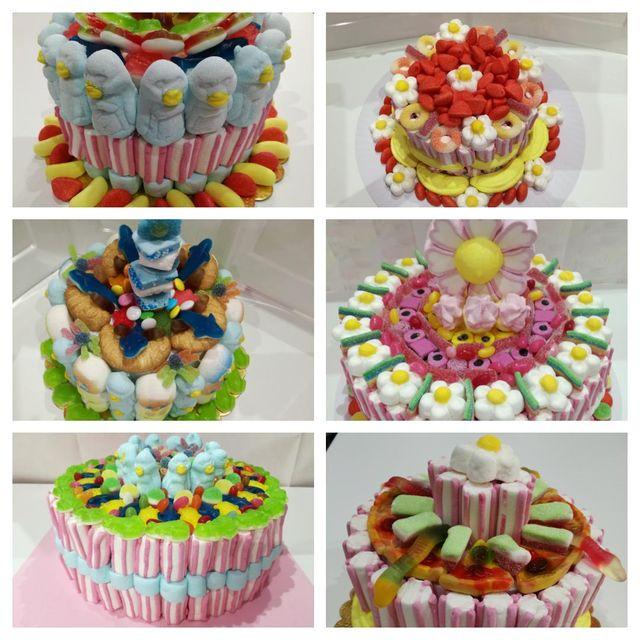 composizione di torte Candy Shop a Mortara