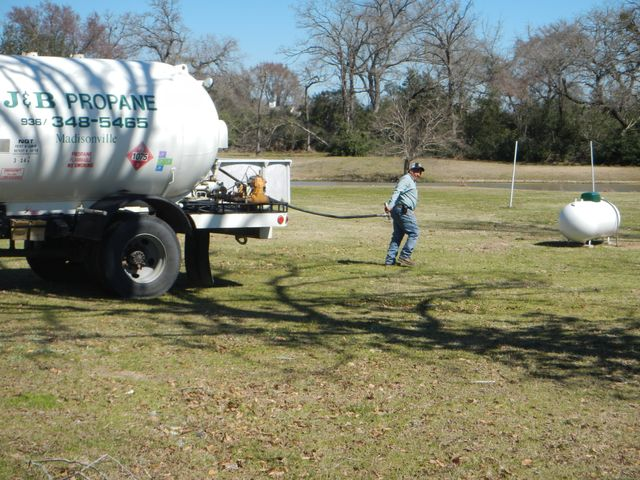 Tank Installation in College Station TX - J & B Propane
